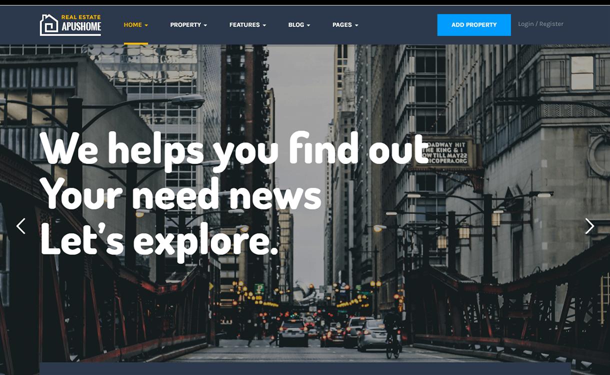 ApusHome-Best Free & Premium Real Estate WordPress Themes