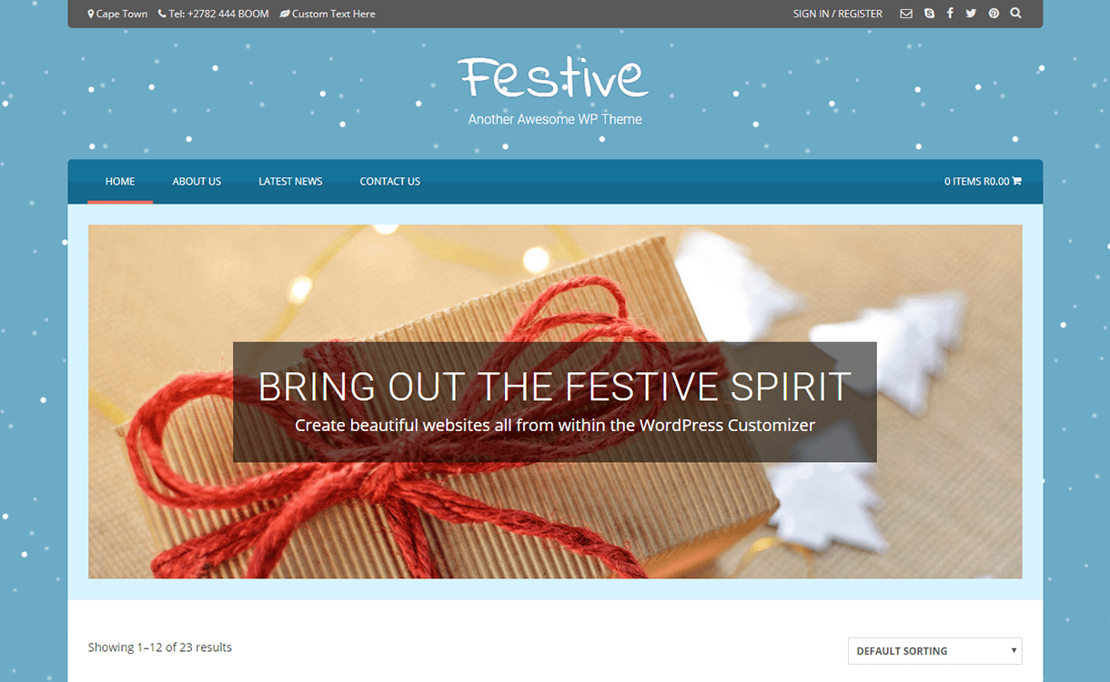 Festive-Best Free WordPress Themes December 2017