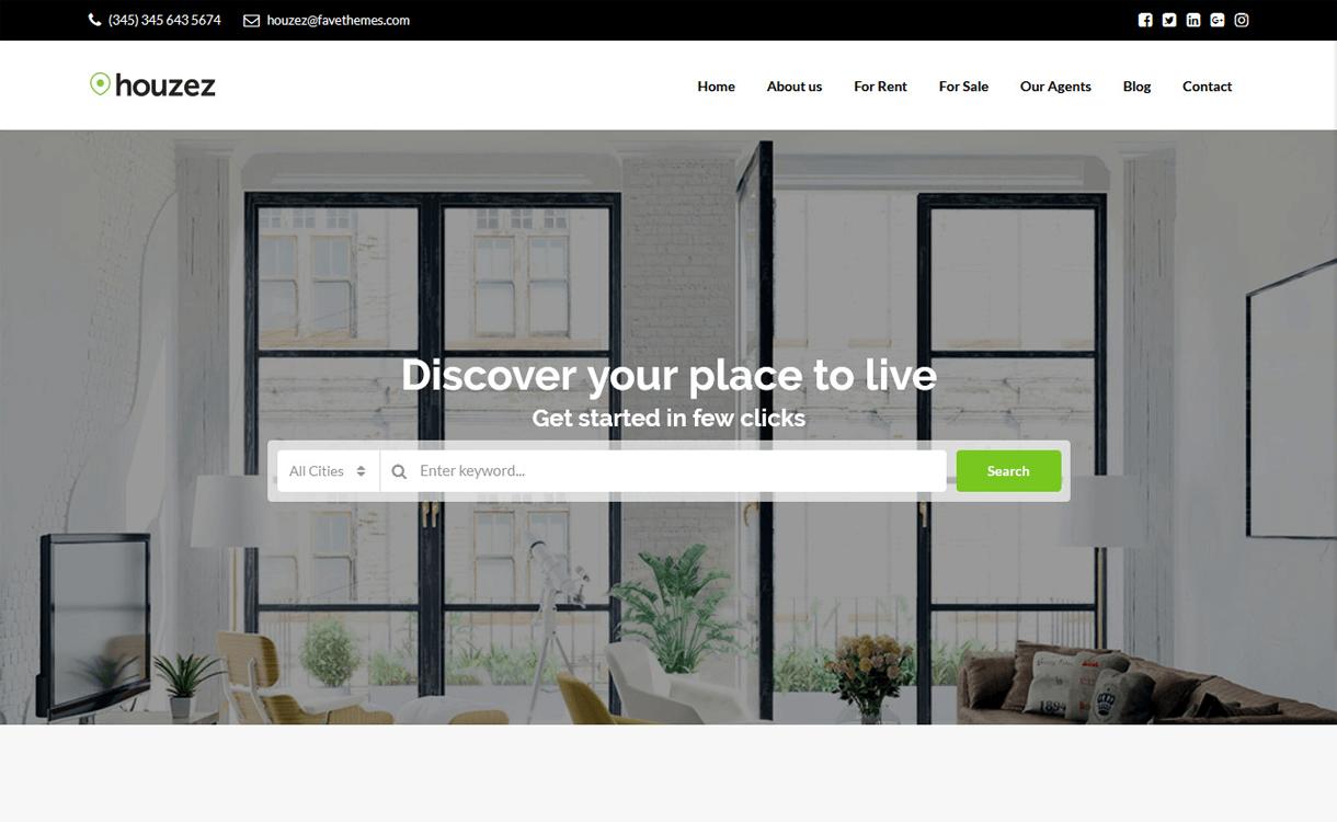 Houzez-Free & Premium Real Estate WordPress Themes