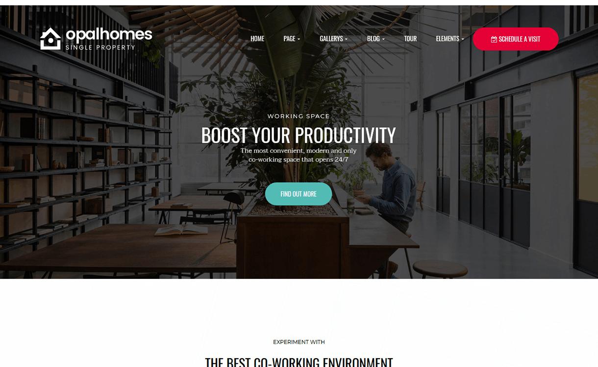 OpalHomes-Best Free Premium Real Estate WordPress Themes