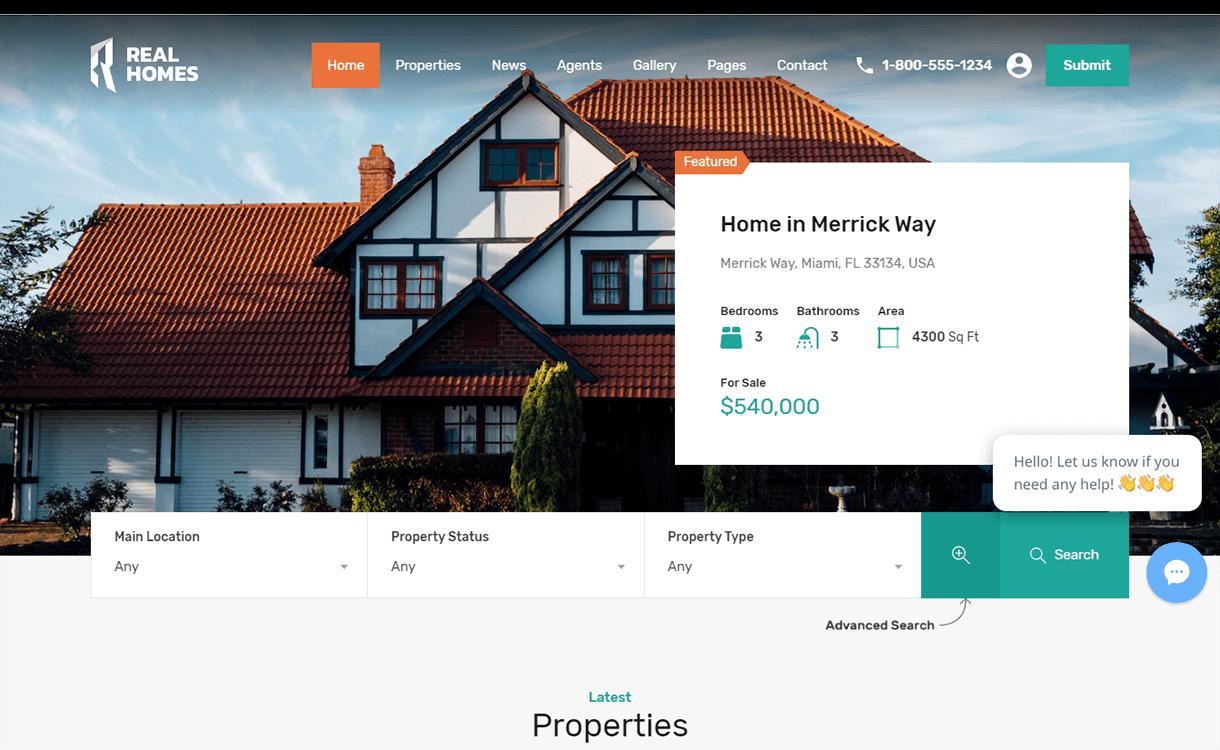 Real Homes-Free & Premium Real Estate WordPress Themes