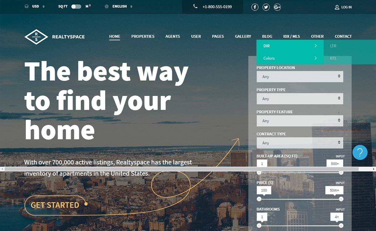 Realtyspace-Free & Premium Real Estate WordPress Themes