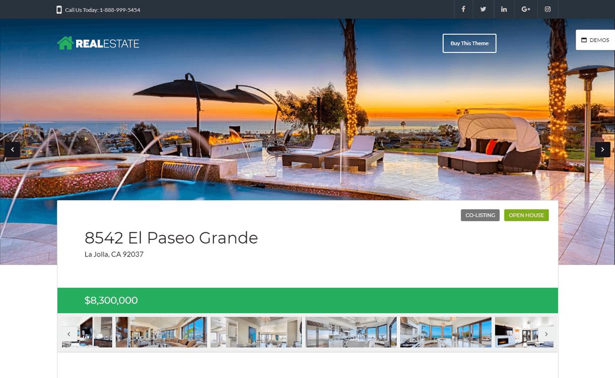WP Pro Real Estate 7-Free & Premium Real Estate WordPress Themes