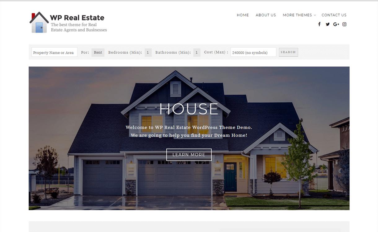 WP Real Estate-Best Free & Premium Real Estate WordPress Themes