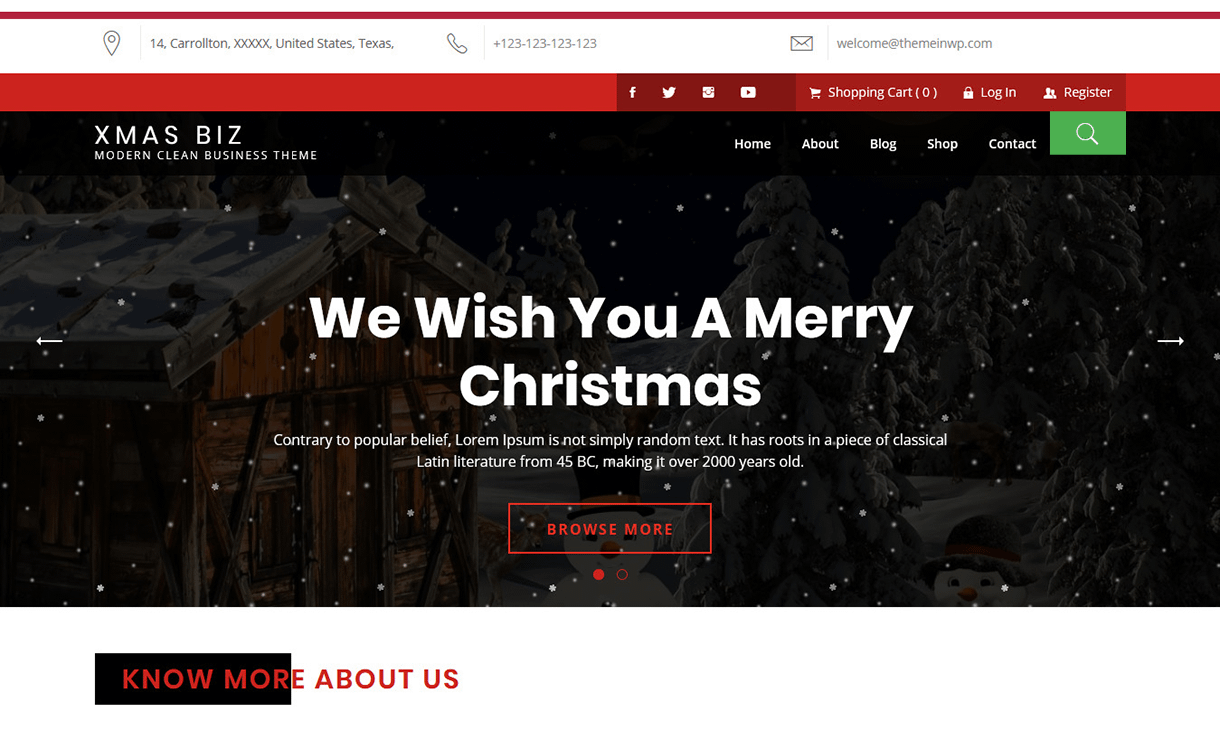Xmas Biz-Best Free WordPress Themes December 2017