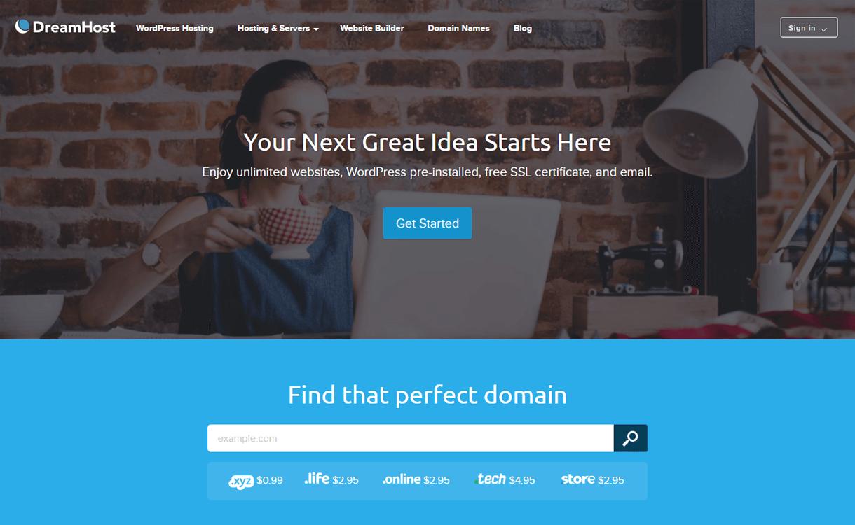 DreamHost-Best WordPress Hosting Services