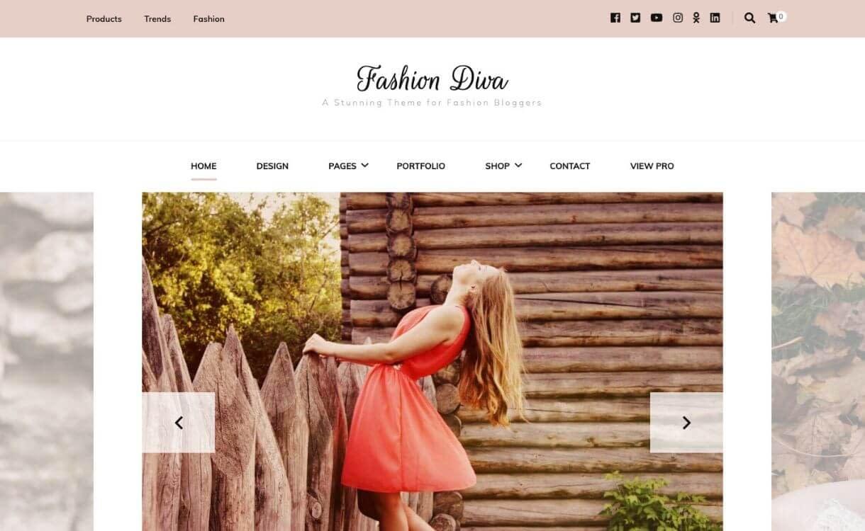 fashion diva - Free WordPress eCommerce Theme