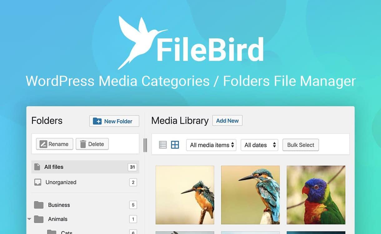 FileBird - WordPress Media Categories Folder File Manager