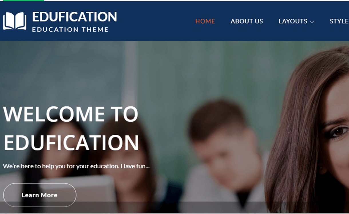 Edufication-Best Free WordPress Themes June 2018
