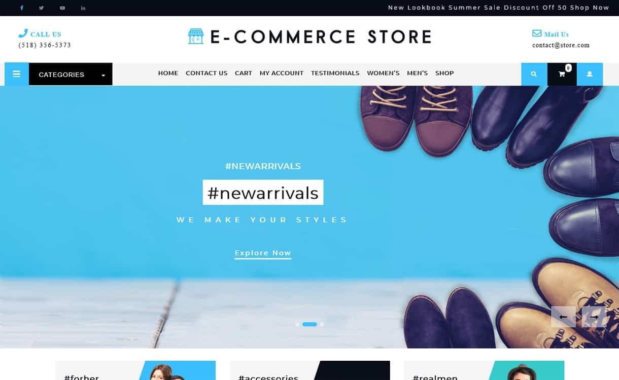 Ultimate Ecommerce Shop-Best Free WordPress Themes May 2018