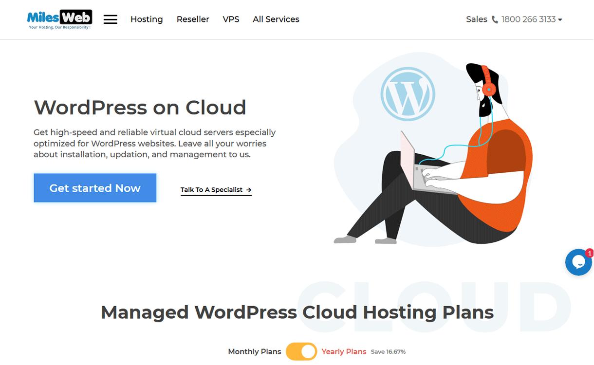 MilesWeb - WordPress hosting plans