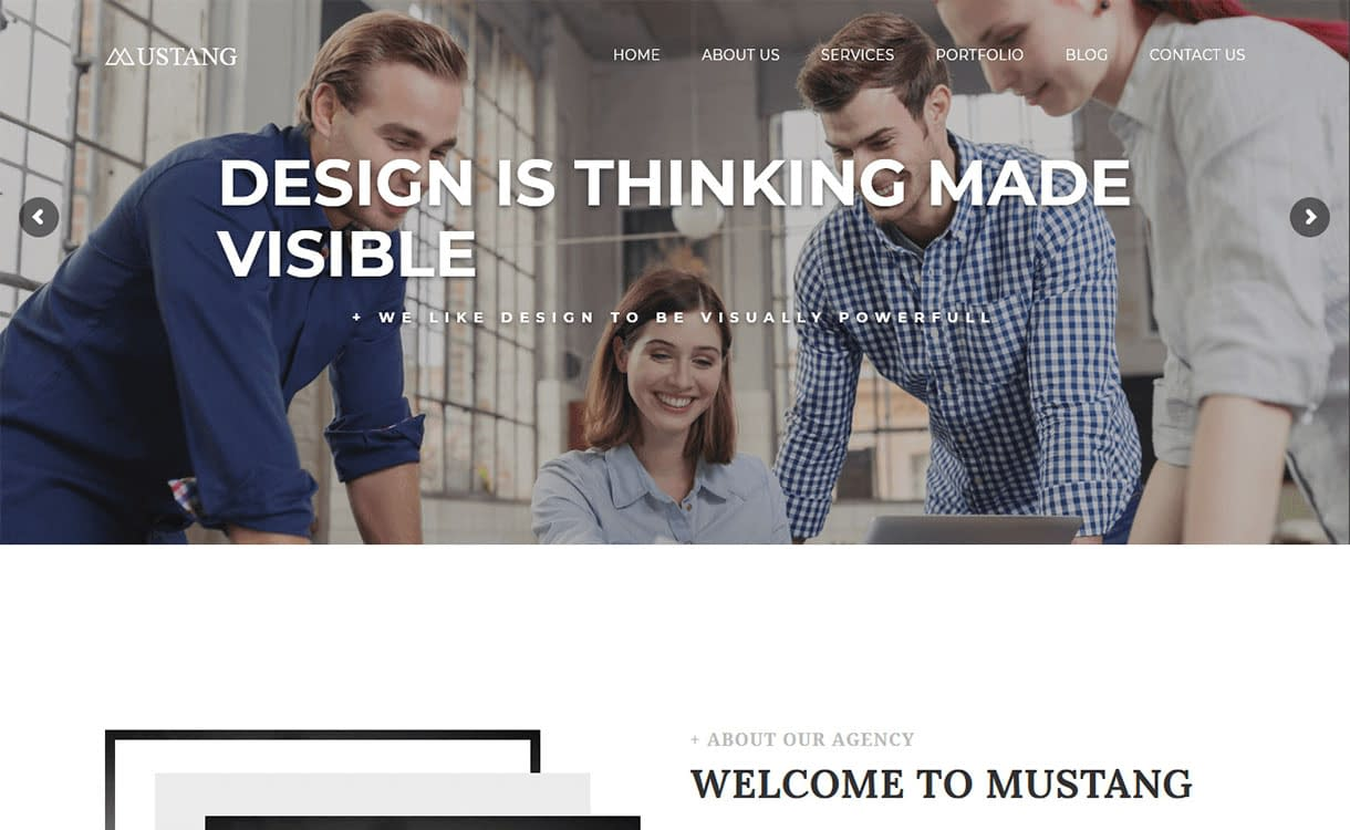 mustang-best-premium-minimal-wordpress-theme