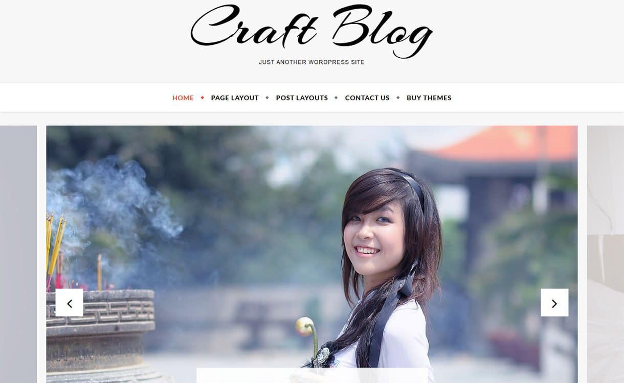 craft-blog-best-free-lifestyle-wordpress-theme