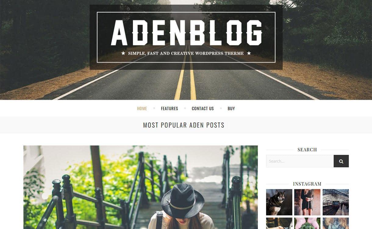 Aden Blog WordPress Theme
