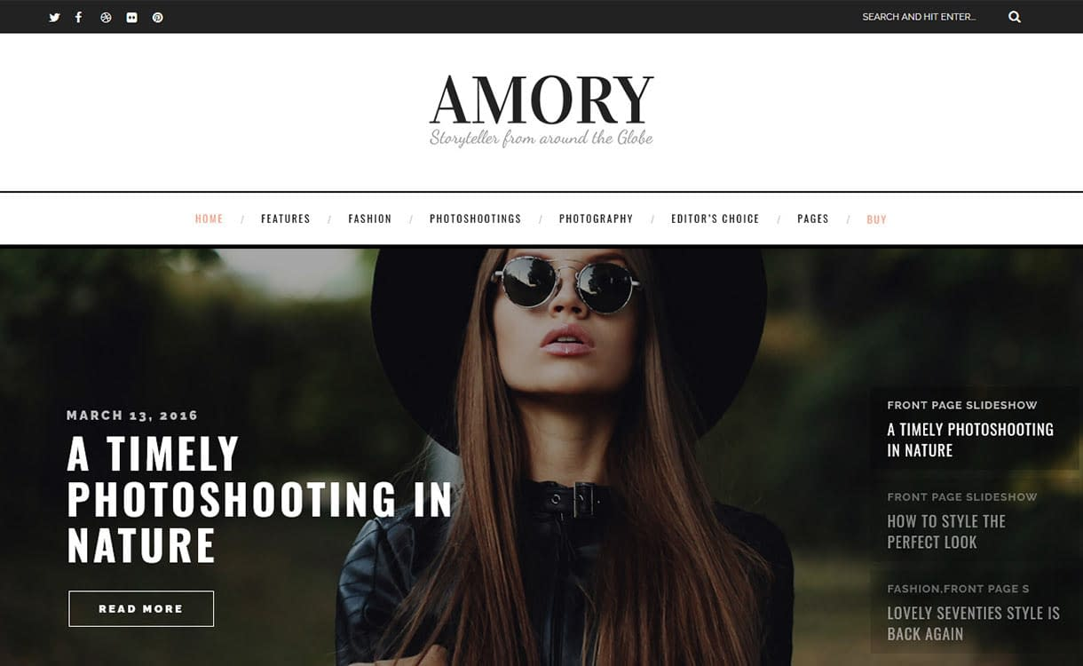 Amory Blog WordPress Theme
