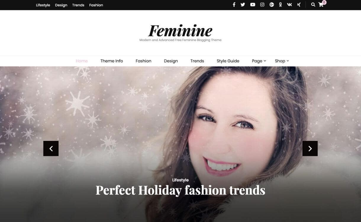 Blossom Feminine - Premium WordPress Blog Theme