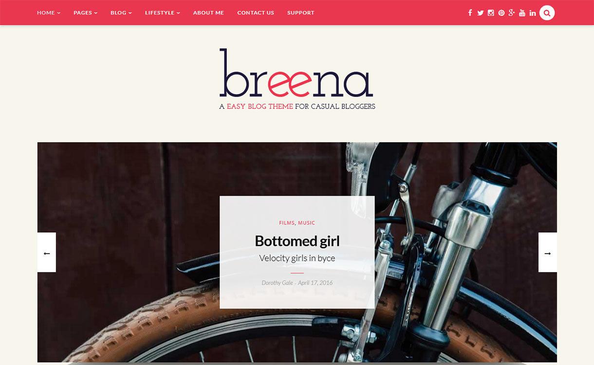 Breena Blog WordPress Theme