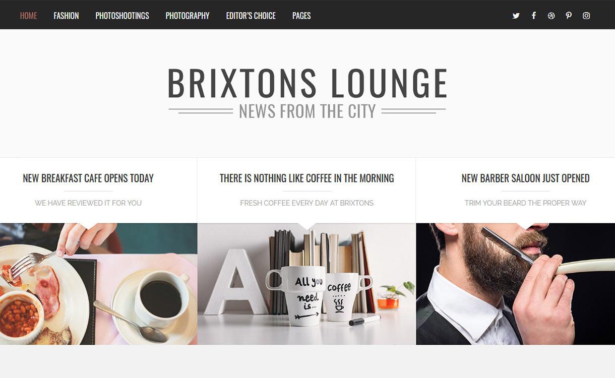 Brixton Blog WordPress Theme