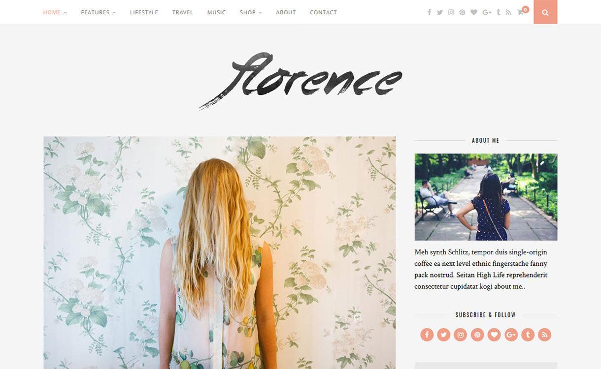 Florence Blog WordPress Theme