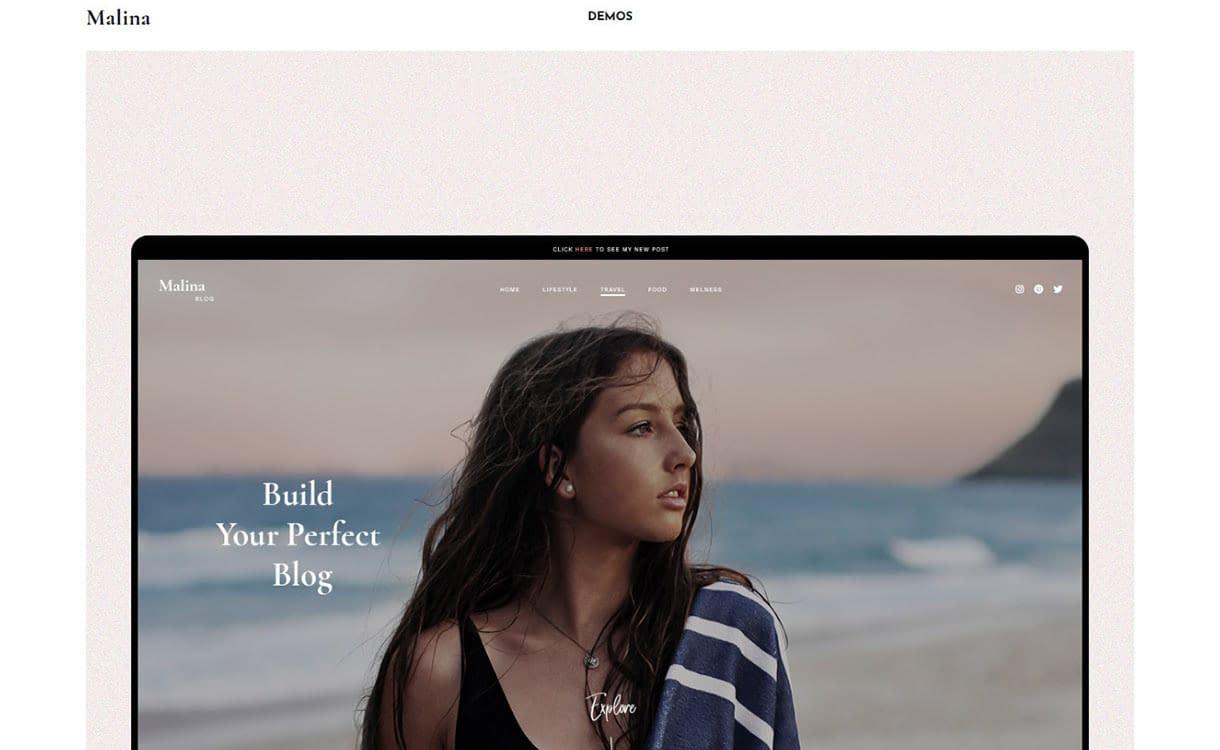 Malina Blog WordPress Theme