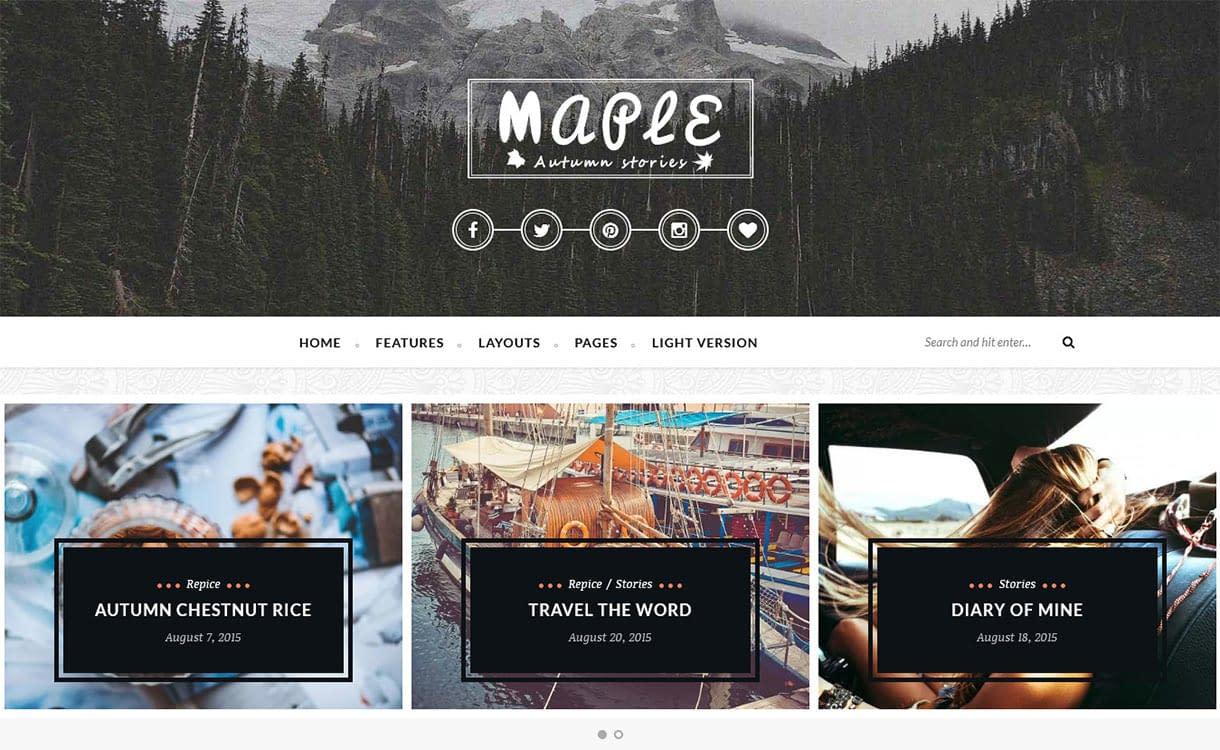 Maple Blog WordPress Theme