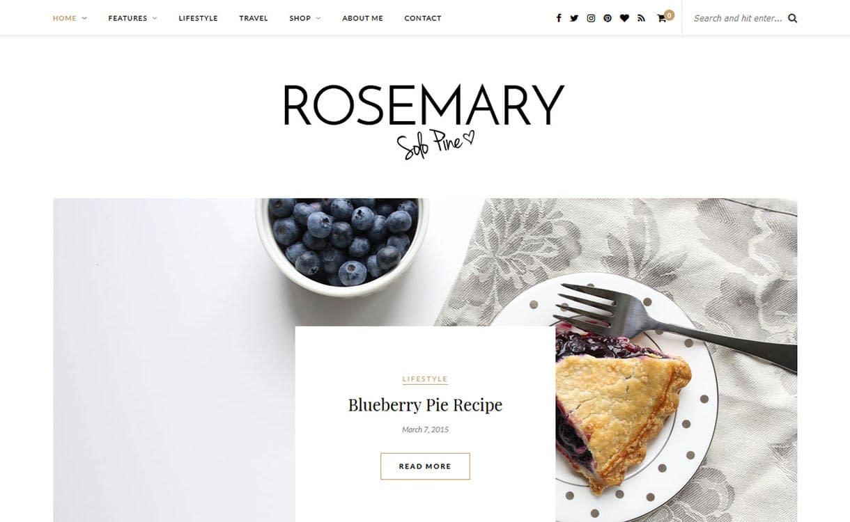 Rosemary Blog WordPress Theme