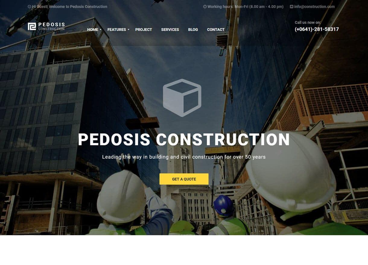 Pedosis-Best Premium WordPress Construction Company Themes 2018