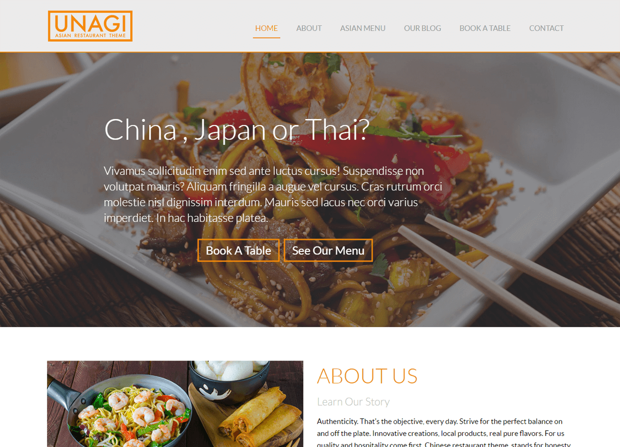 Chinese Restaurant-Best Cafe and Restaurant WordPress Themes