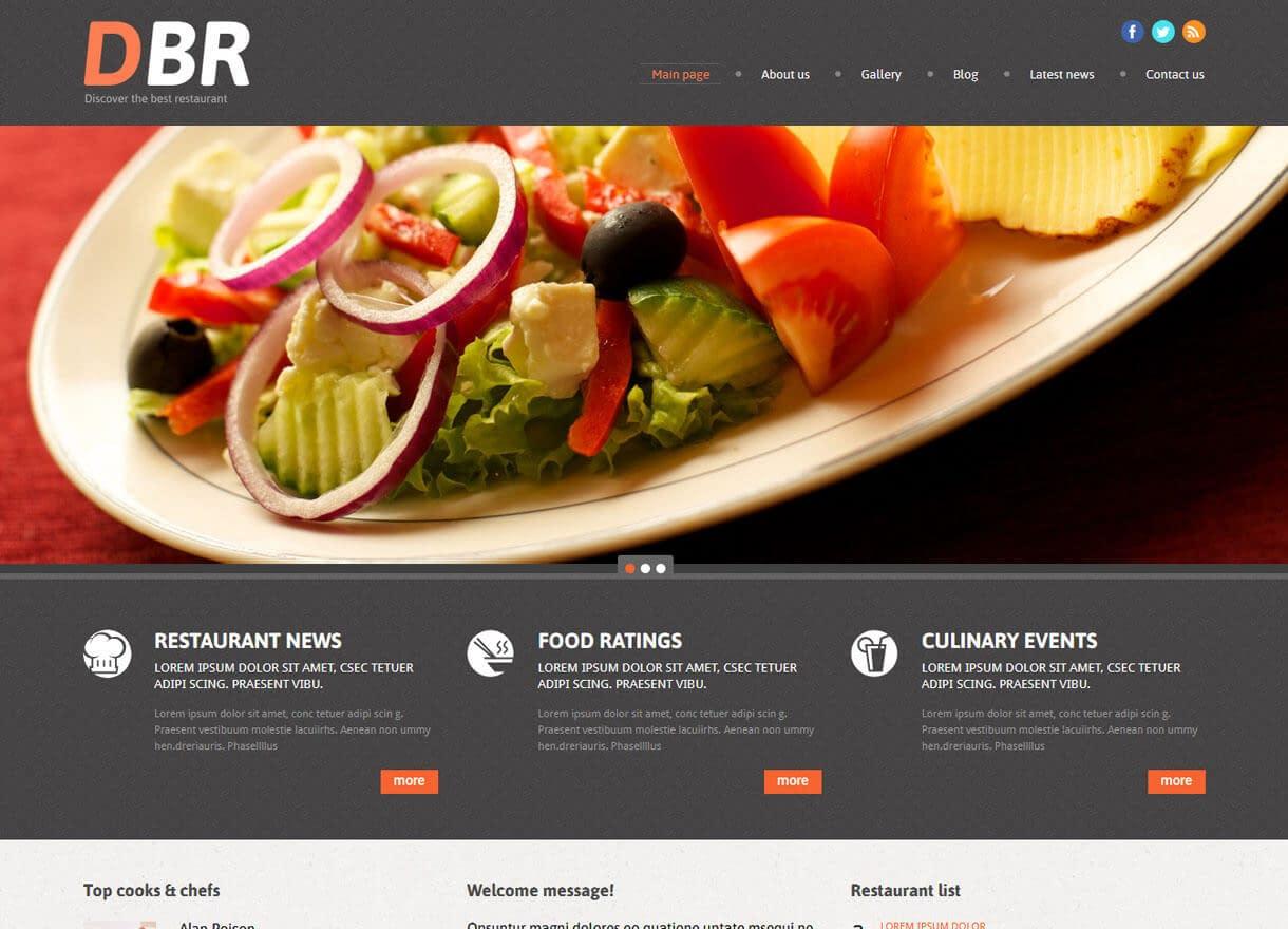 European Restaurant-Best Cafe and Restaurant WordPress Themes