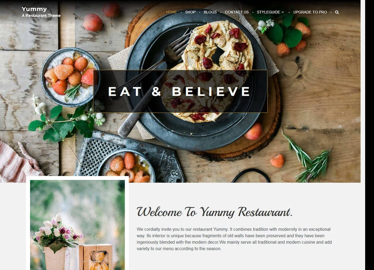 Yummy-Best Cafe and Restaurant WordPress Themes