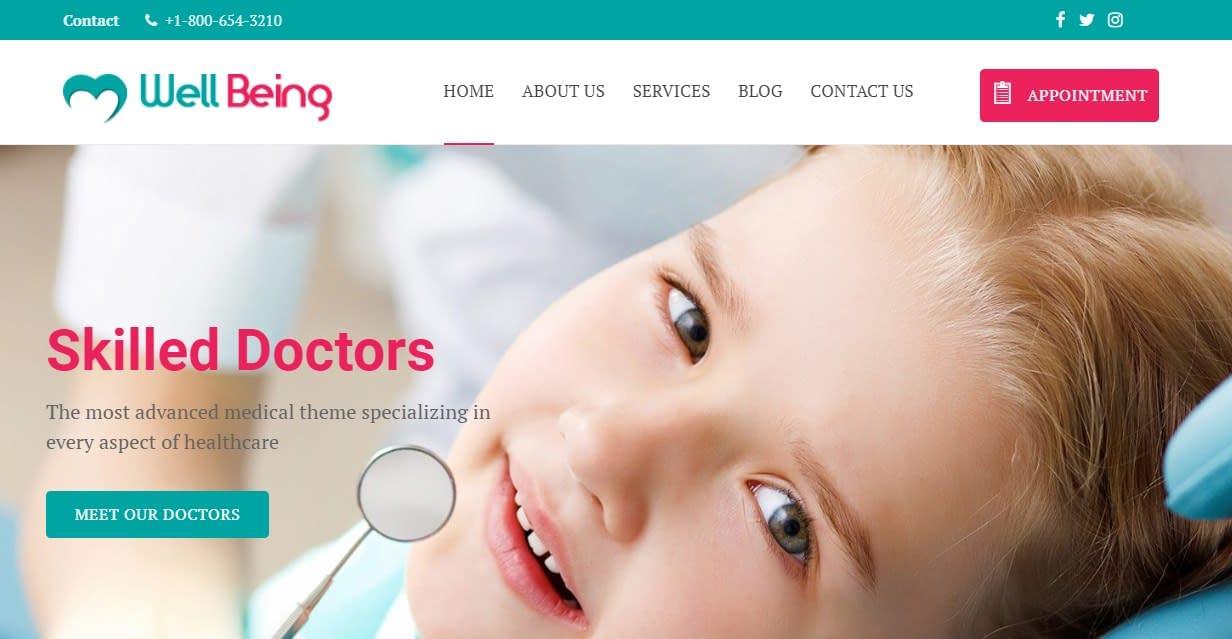 WellBeing - Free WordPress Medical Theme