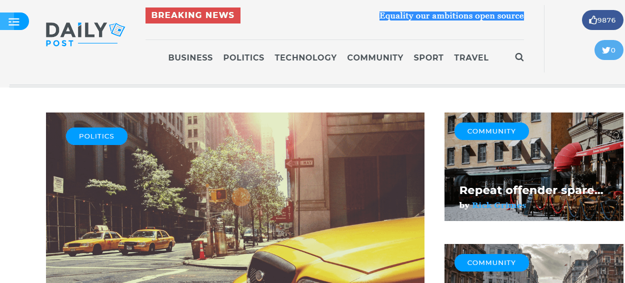 DailyPost - Best Premium WordPress Magazine Theme