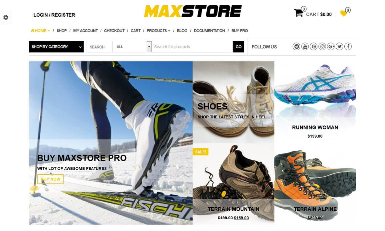 MaxStore - Best Free WordPress eCommerce WooCommerce Themes