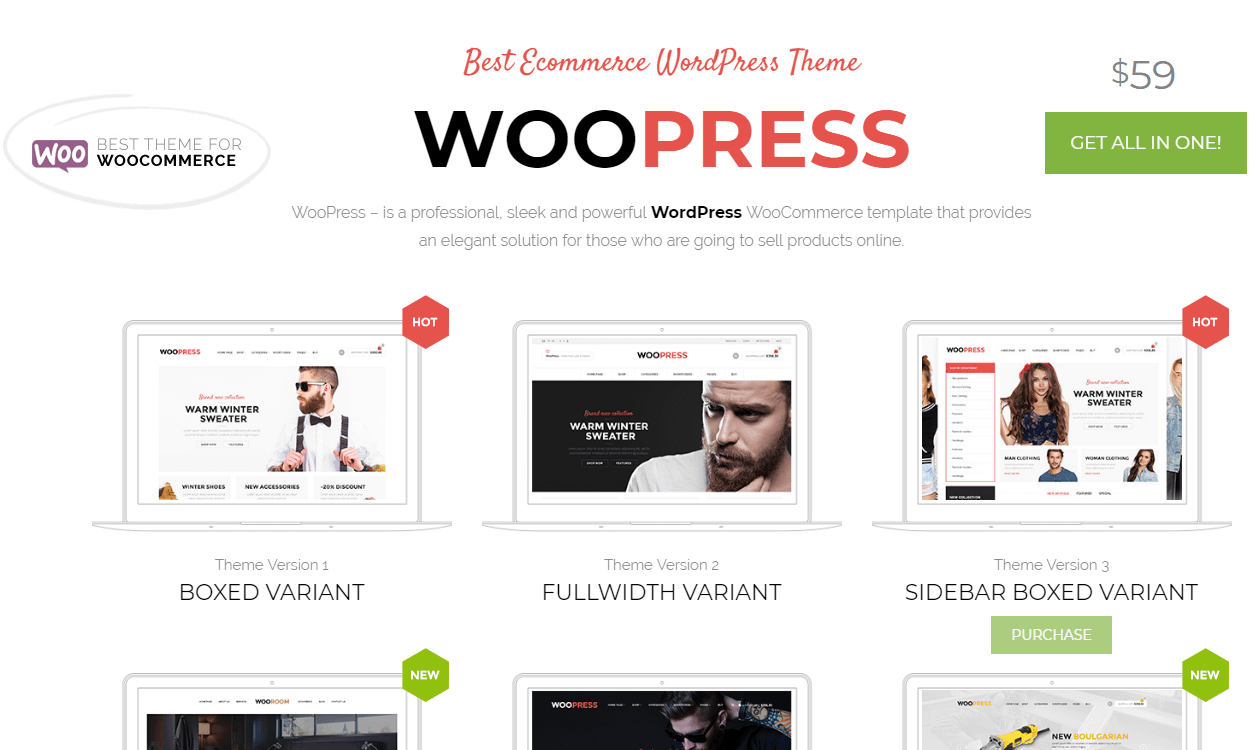 WooPress - Best Premium WordPress eCommerce/WooCommerce/Online Store Themes