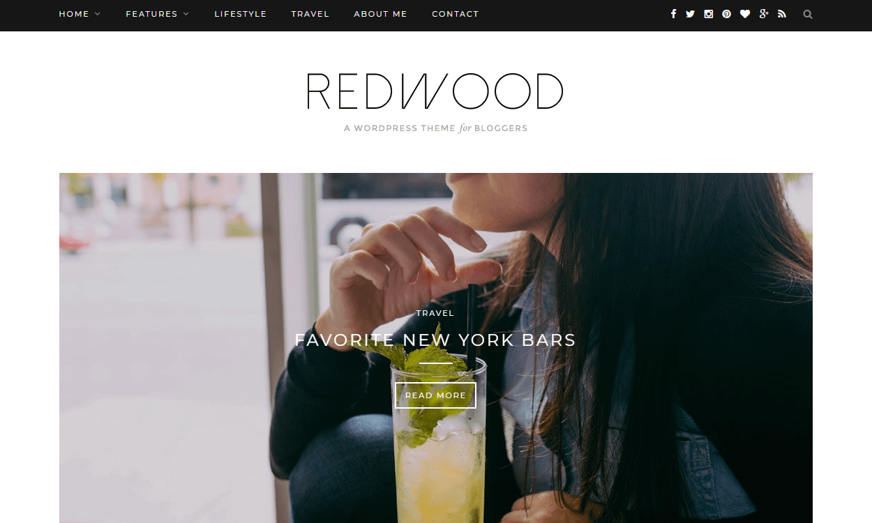 Redwood - Best Premium WordPress Blog Themes