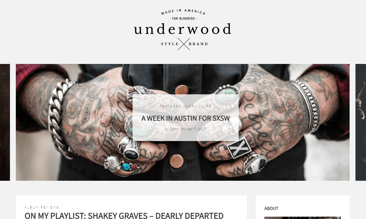 Underwood - Best Premium WordPress Blog Themes