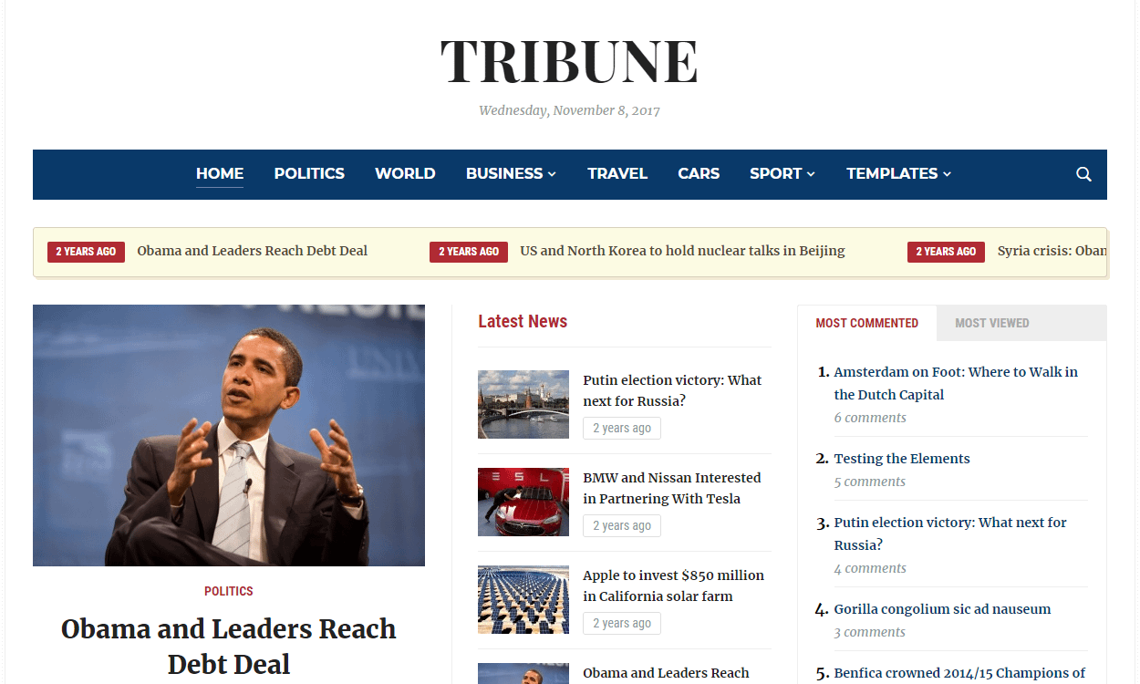Tribune - Best Premium WordPress Magazine Theme
