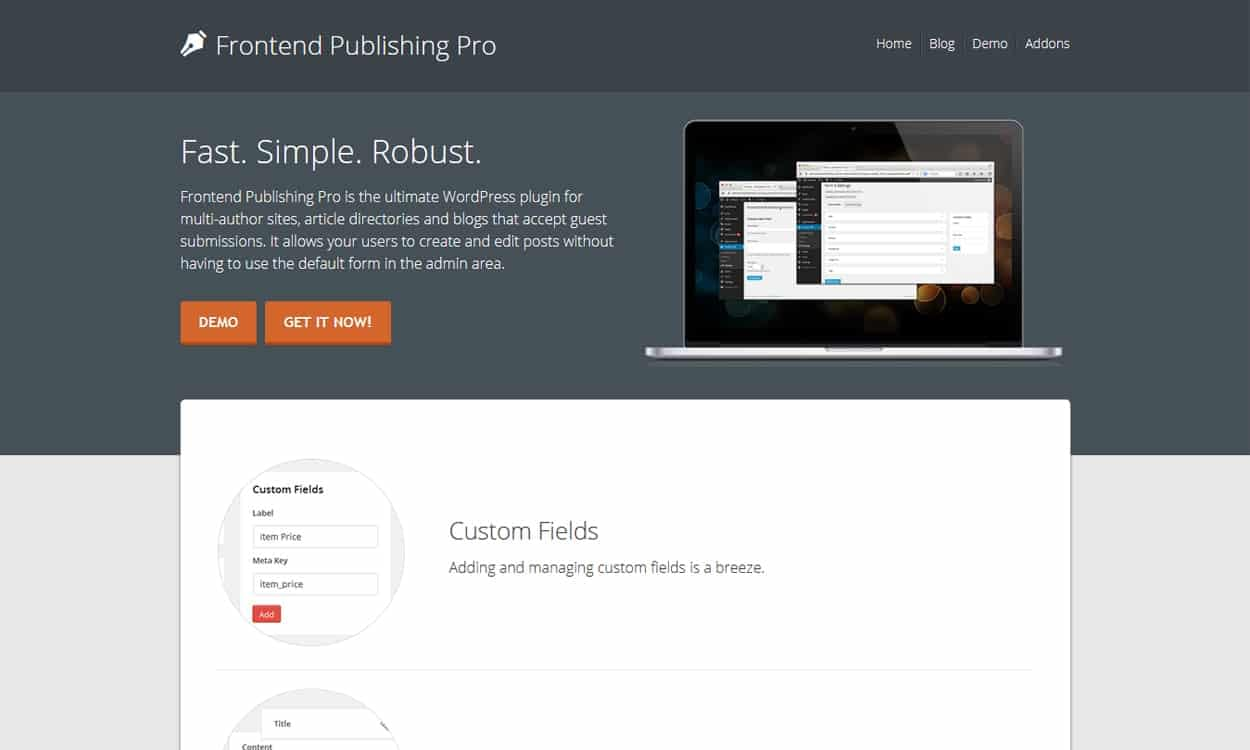 Frontend Publishing Pro - Best Premium WordPress Frontend Post Submission Plugins