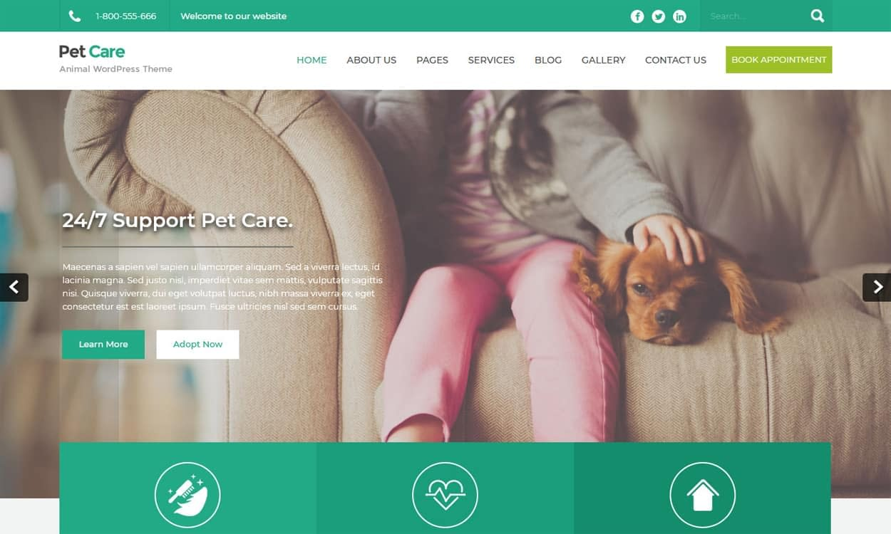 PetCare - WordPress Animal Theme