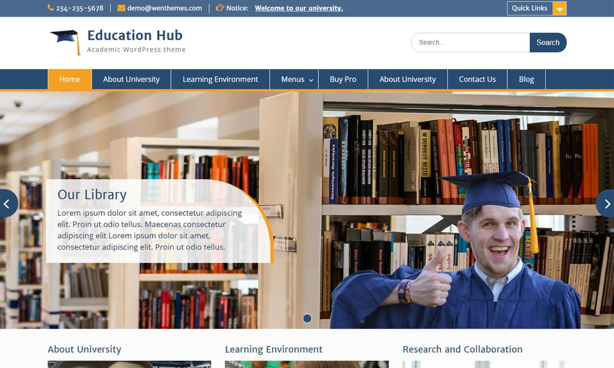 Education Hub - Education Hub - Best Education School College WordPress Themes and Templates (Free)