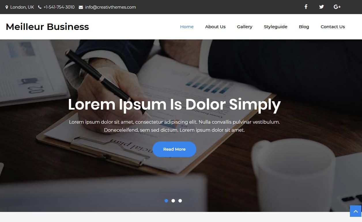 10+ Best Free Accounting WordPress Themes