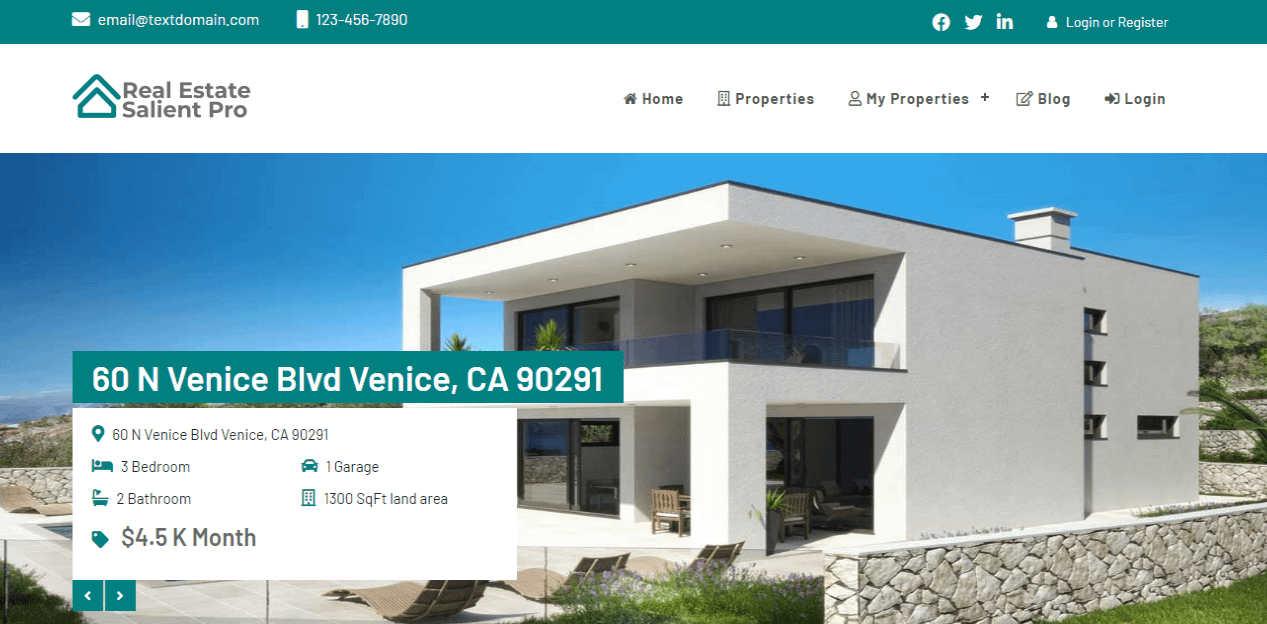 Real Estate - Best Free Home Rental and Property WordPress Themes