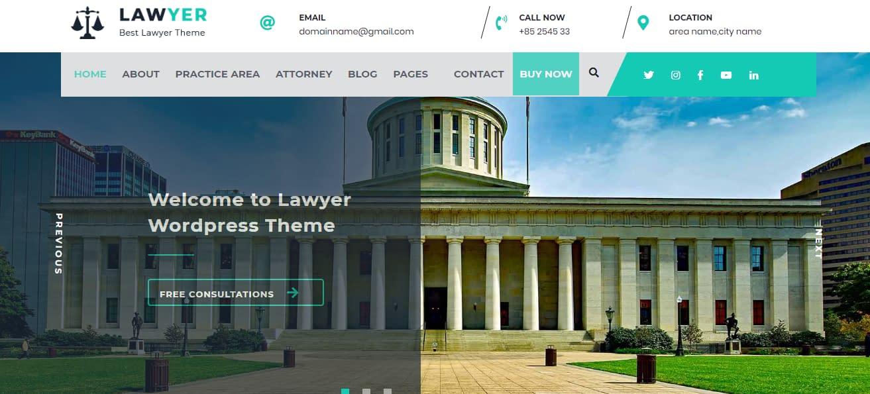 Lawyer Lite - Free WordPress Lawyer Theme