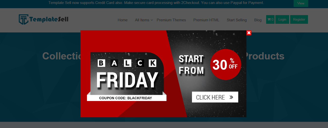 Template Sell - Black Friday and Cyber Monday WordPress Deal 2018