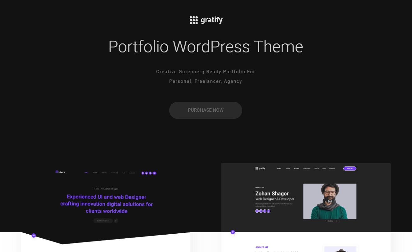 Gratify - WordPress Gutenberg Theme