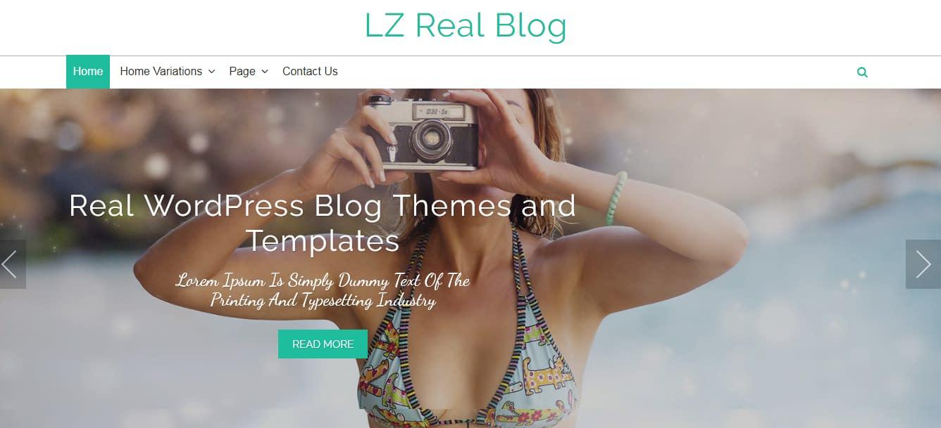 LZ Real Blog - Free WordPress Blog Theme