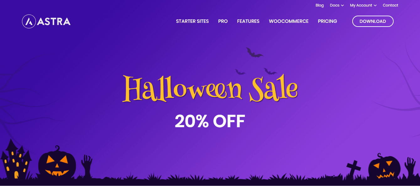 Best WordPress Deals and Discounts for Halloween - Astra Theme
