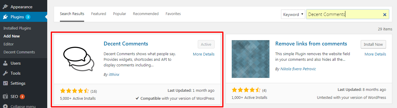 how to add recent comments in your wordpress sidebar