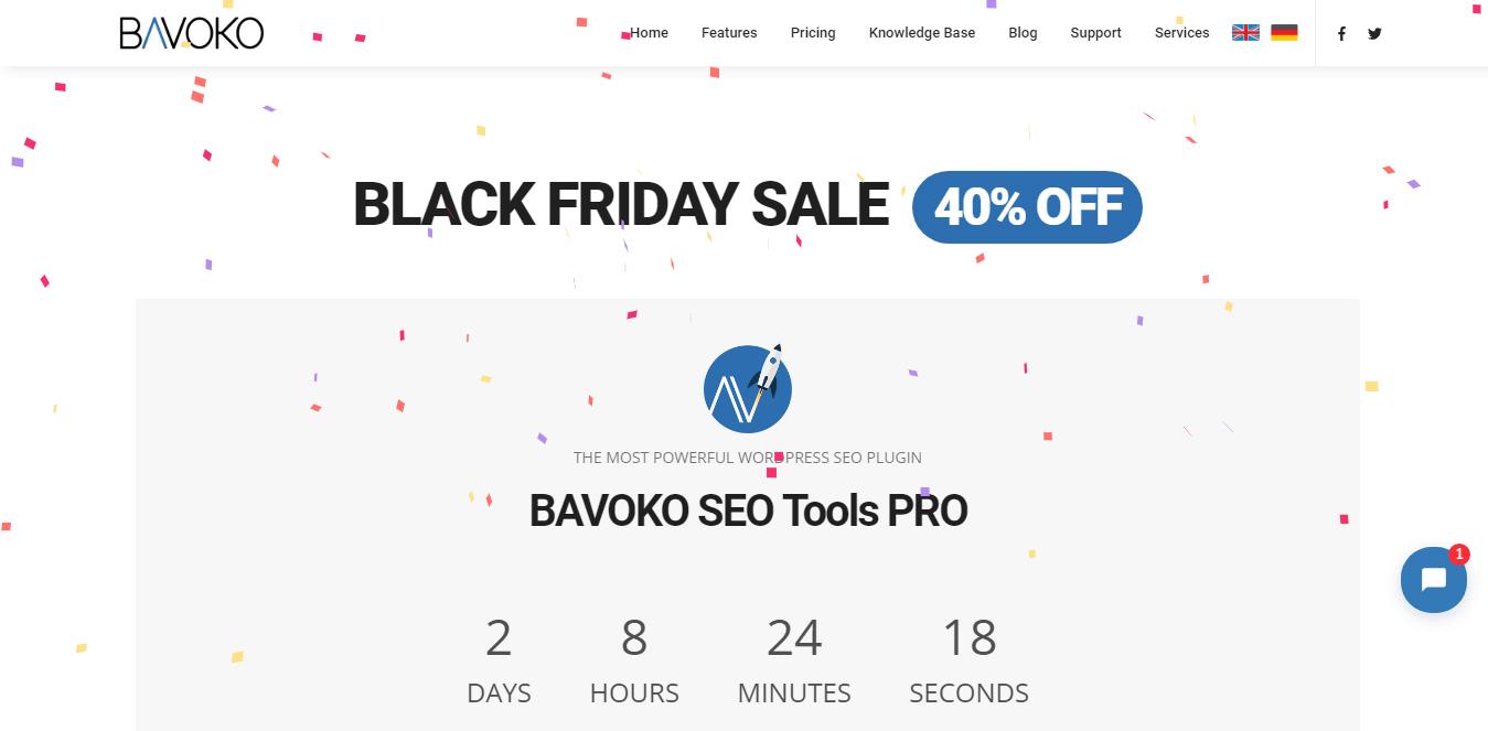 Bavoko - Black Friday and Cyber Monday WordPress Deal 2018