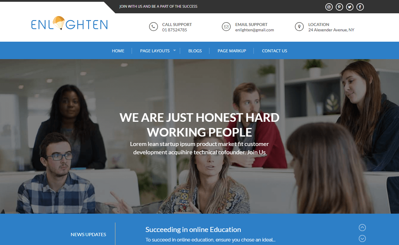 Enlighten - Best Education School, College WordPress Themes and Templates
